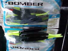 "BOMBER 6"" Jerk Minnow 10 pack BSWJM in512  BLACK CHART TAIL for Fresh/Salt Fish"