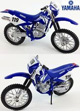 YAMAHA TT-R250 OFFICIAL 1:18 DieCast Motocross MX Toy Model Bike Blue NEW MAISTO
