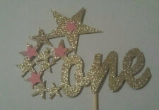 1ST BIRTHDAY ONE STAR CAKE TOPPER GOLD GLITTER TWINKLE TWINKLE LITTLE STAR