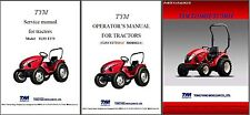 TYM T233 - T273 HST Tractor Repair Service & Parts Manual CD --- T 233 273