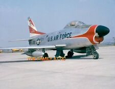 F-86D SABRE 8x11 PHOTO US AIR FORCE JET PLANE TARMAC HAHN AFB WEST GERMANY 1957