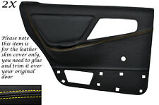 YELLOW STITCH 2X REAR DOOR CARD COVERS FITS FORD SIERRA MK1 RS 4X4 5 DOOR