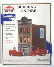 Model Power Building on Fire No. 449 - HO scale