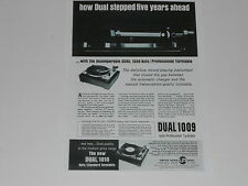 Dual 1009 Turntable Ad, 1966, Article, Info, 1 page