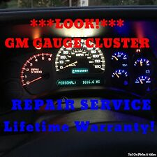 2003-06 GM Silverado Speedometer Instrument Cluster Gauge REPAIR SERVICE +LED