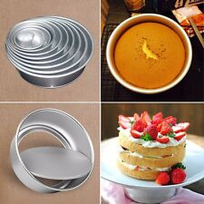 5pcs 2 Inch Cake Baking Tin Pan Mould Round Loose Base Bottom Aluminum