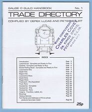 1973 GAUGE O GUILD HANDBOOK No. 1 - TRADE DIRECTORY (TRAINS CATALOG)