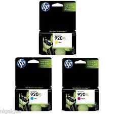 SET 3 HP 920XL HP920XL CD972AE CD973AE CD974AE C Y M