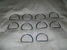 STAINLESS STEEL D RINGS for scuba, boating, equestrian 10 pcs. Made in USA.
