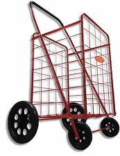Extra Large Heavy Duty Shopping Cart Red Folding Laundry Grocery Basket New