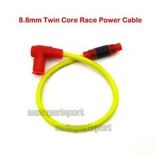 8.8mm Twin Core Race Power Cable Ignition Coil ATV Pit Dirt Bike Moped Scooter