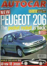 Autocar 10th June 1998 206, Seicento, Golf V5, Rover 211i, Clio, Blenheim 2, 911
