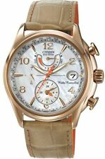 NEW Citizen Eco-Drive FC0003-18D World Time AT Rose Gold MOP Dial Women's Watch