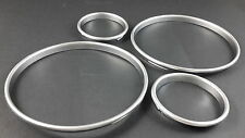 BMW E30 Silver Cluster gauge Dashboard rings speedo Trim instrument