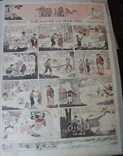 Tom Sawyer and Huck Finn Sunday by Clare Dwigs from 9/28/1919 Full Page Size B&R