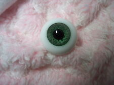 ~GeRMaN SoLiD RoUnD HaNd BLoWn GLaSs EyEs GreeN 26MM  ~ ReBoRn DoLL SuPPLies~