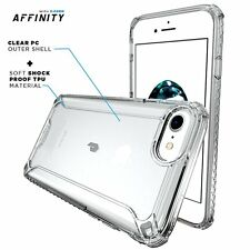 For iPhone 7 Poetic Soft Shockproof Dual material Protective Bumper Case Clear