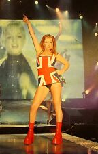 SPICE GIRLS clipping 1997 sexy color photo Ginger Spice flag Union Jack live