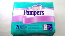 NOS Sealed Vtg 1999 Pampers Premature Infant Preemie Baby 20 Disposable Diapers