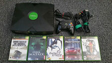 Xbox Original Console Tested Working With 5 Games