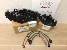 AUDI Q7 FRONT & REAR BRAKE PADS AND WEAR SENSORS - OEM Brand New