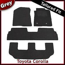 Toyota Corolla Verso Mk2 2004-2009 3-Rows Tailored Carpet Car Floor Mats GREY