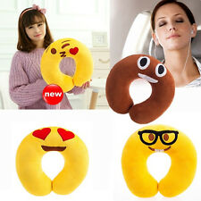 6pcs Lovely U Shaped Emoji Pillow Cartoon Emoticon Soft Head Rest Plush Cushion