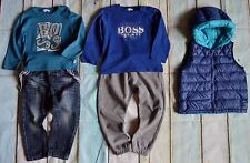 Baby Boys Designer Clothes Bundle HUGO BOSS Tops Gilet Next Jeans ZARA Joggers