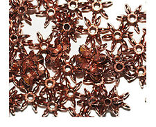 Star Flake 10mm Bright Copper Metalized Metallic Beads