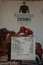 "2016 KENTUCKY DERBY "" NYQUIST "" PROGRAMS  W/ RESULT TICKET"