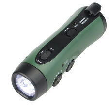 Hand Crank Emergency Flashlight with FM/AM Siren Radio & Phone Charger+USB cable