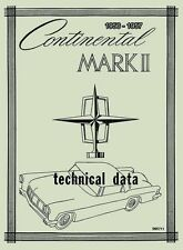 1956 56 Lincoln Continental Mark II Repair Shop Manual