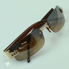 For Men Women DG Sunglasses Eyewear Rimless Small Tint Shades Fashion Brown 8009
