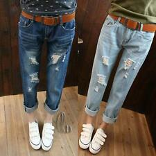 WHOLESALE BULK LOT 10 MIXED COLOUR SIZE 26-34 Ripped Jeans Boyfriend pants p015