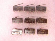 9 NEW Honeywell 111SM1 Snap Action Switch NO/NC SPDT Straight Lever 5A 250VAC