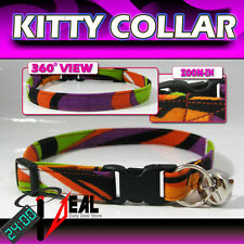 Breakaway SAFETY CAT Collar * Wavies Stripes 3Color *