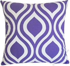 Lavender Purple/White Thistle decorative throw pillow cover/cushion cover 20x20""