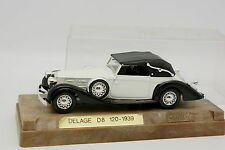 Solido Age d'Or 1/43 - Delage D8 120 1939 Blanche