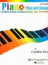 Piano Plain and Simple Adult Lesson Book Vol 1 with CD Reading, Theory, Playing!