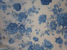 PMI Div Printmaker Int'l Sheer Organza Fabric 7 yds #7091 Shabby Blue Roses Chic