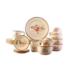 Christmas 20-piece Dinner Set Dinnerware Serving Dishes Dining China Holiday