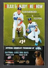 June 2014 Daytona CUBS vs Tampa YANKEES PROGRAM Bijan Rademacher / Felix Pena EX