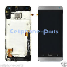 HTC One mini M4 601e 601s LCD Screen Display with Digitizer & Bezel Frame Silver