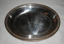 Oval Silver Partial Hallmark Serving Tureen Canape Vegetable Dish