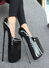 Extreme high heels Pumps black patent