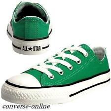 KIDS Boys Girl CONVERSE All Star EMERALD GREEN WHITE OX Trainers Shoe SIZE UK 12