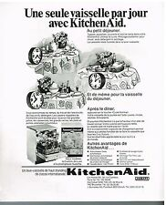 Publicité Advertising 1974 Le lave Vaisselle KitchenAid
