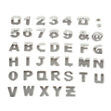 40pcs Universal 3D Car Alphabet letter Number Symbol Emblem Badge Decals sticker