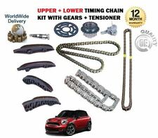 FOR BMW MINI COUNTRYMAN ONE 1.6 DIESEL 2010-  UPPER + LOWER TIMING CHAIN KIT SET