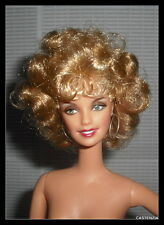 NUDE BARBIE CELEBRITY BLOND OLIVIA NEWTON JOHN GREASE SANDY DOLL  FOR OOAK